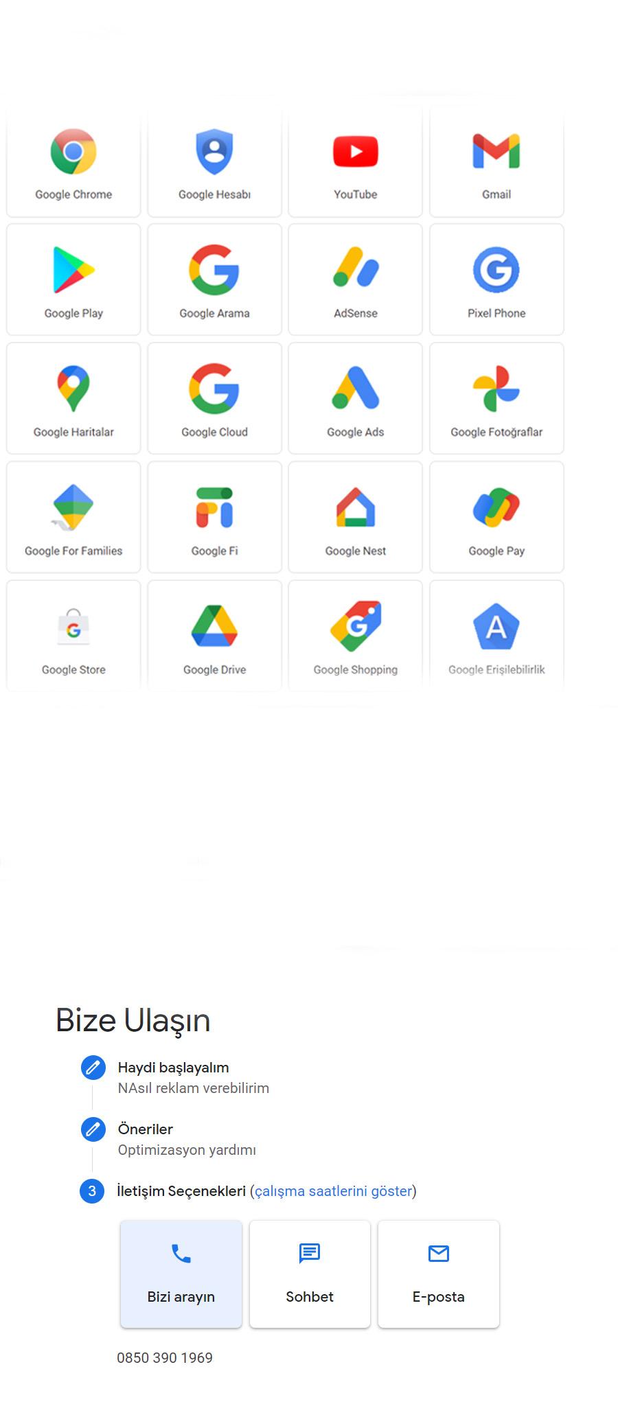 Google Ads Canlı Destek